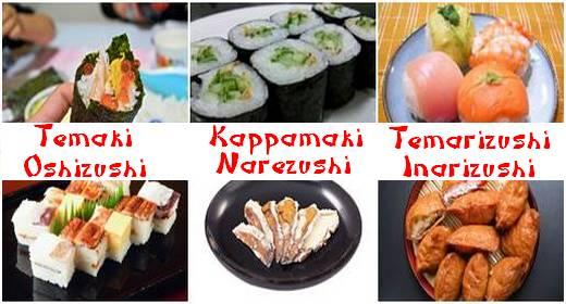 tipos de sushis