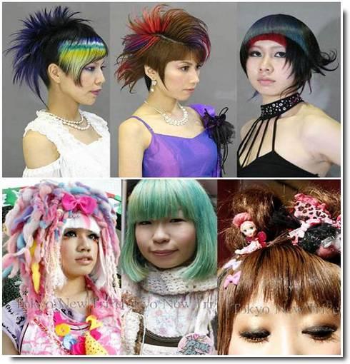 Cabelos crazys dos japoneses fotos