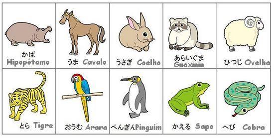 Animais em japonês 1