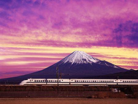 Monte Fuji e Shinkansen