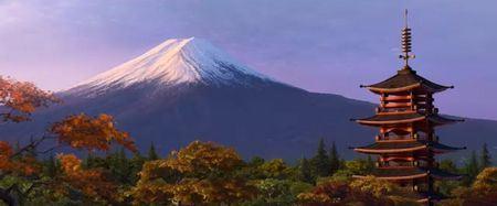 Monte Fuji e Templo, no Parque Nacional Fuji-Hakone-Izu