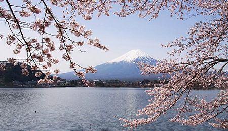 Monte Fuji na Primavera