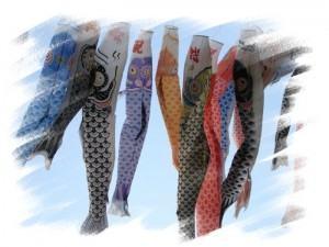 Carpas,simbolos do Dia da Criança no Japão