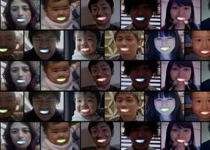 sorriso led no Japão
