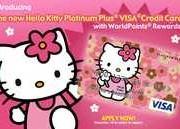 Cartão de crédito Hello Kitty