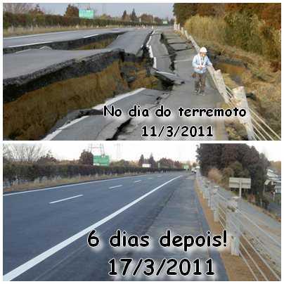 antes e depois rodovia Japão