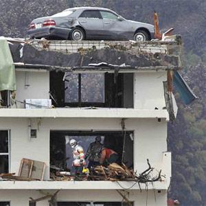 carro Terremoto Japão