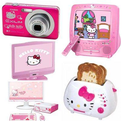 Maquina Fotográfica, televisão, monitor e tostadeira by Hello Kitty