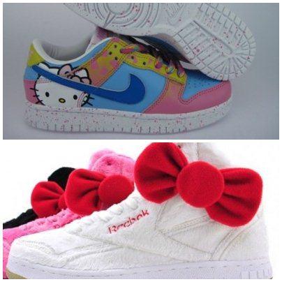 Sapatos Hello Kitty para os aficcionados pela gatinha da Sanrio