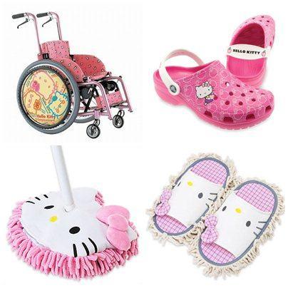 Cadeira de rodas, crocs e espanadores para varrer a sujeira da sua casa by Hello Kitty