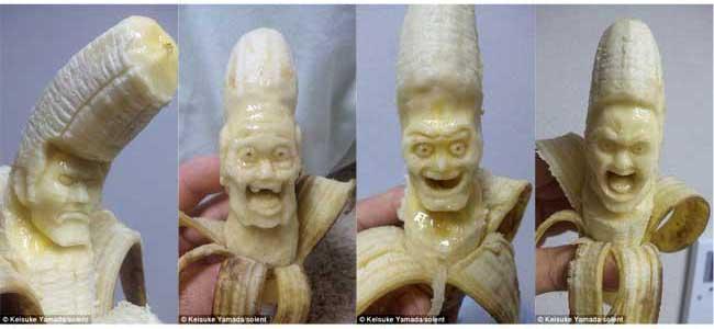esculturas em bananas