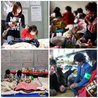 desabrigados en fukushima
