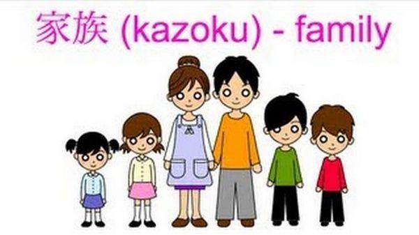 Família em japonês