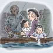 Família fugindo