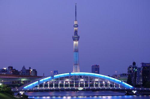 Tokyo Sky Tree e Ponte Eitai