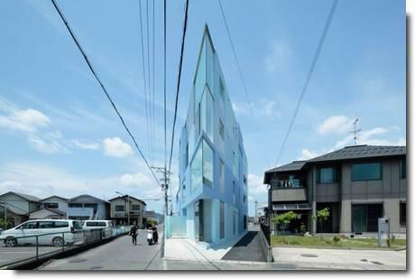 Eastern Design Prédio fino japonês