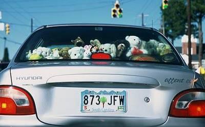 Significado do termo kawaii ♥ Bichos-de-pel%C3%BAcia-enfeitando-carros-no-Jap%C3%A3o
