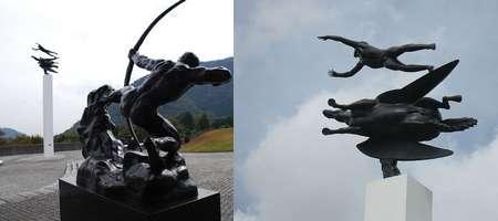 hakone man and pegasus por Carl Milles