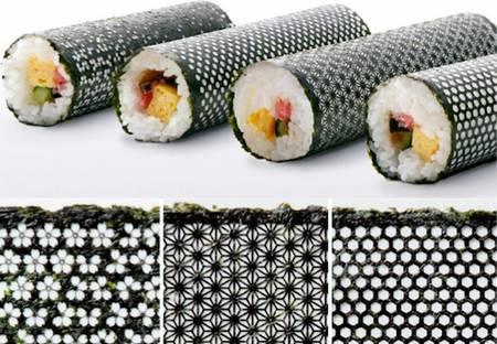 Designer arrojado em nori para sushi