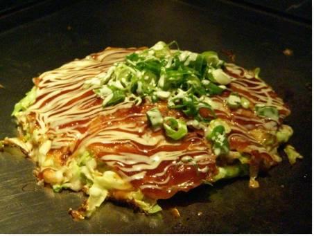 Comida Popular no Japão Okonomiyaki
