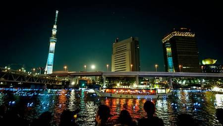 Tokyo Hotaru Festival Luzes no rio Sumida