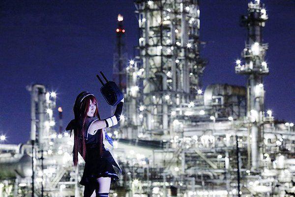 Kojo no Yakei Paisagem noturna industrial
