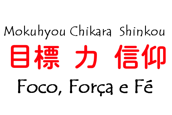 Kanji De Fé Força Foco E Outros Curiosidades Do Japão