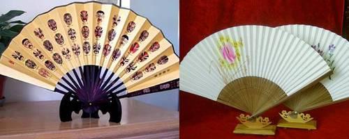Leques japoneses tradicionais kabuki decoração