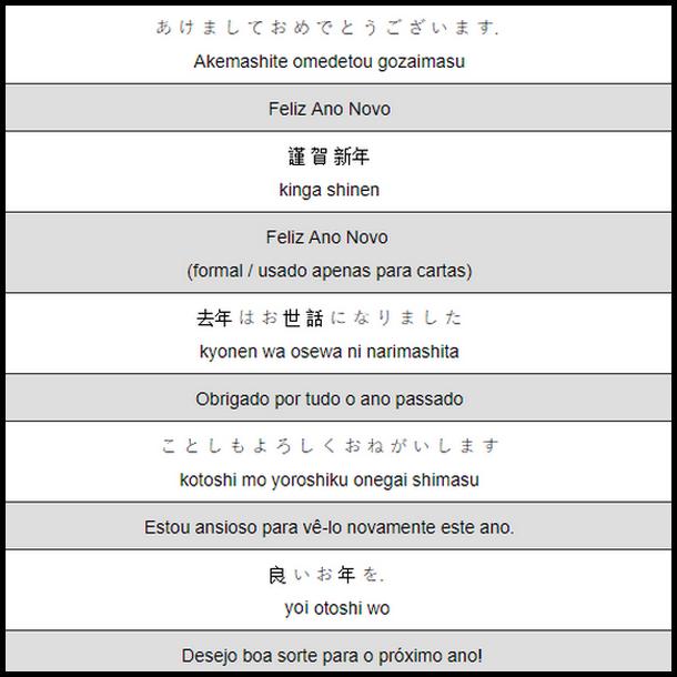ano novo em japonês