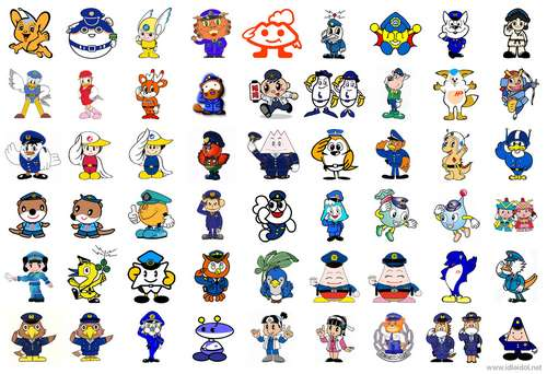 Mascotes da polícia japonesa