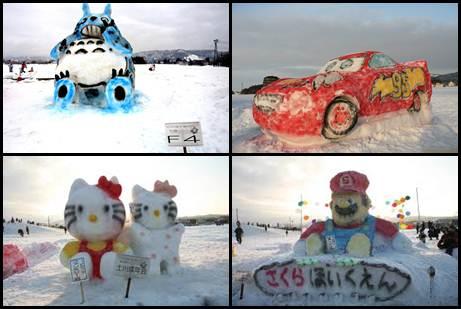 Ojiya Competição de Escultura em Neve