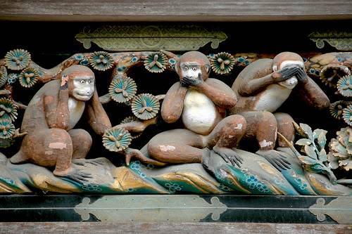 Sanzaru, os três macacos sábios