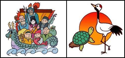 Shichifukujin e Tsurukame