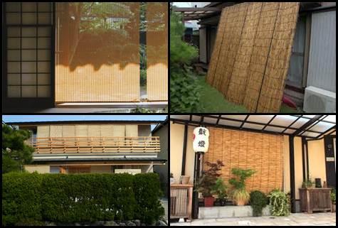 Sudare cortinas de bambu japonesas
