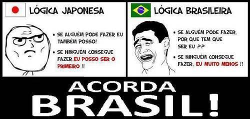 Lógica japonesa x lógica brasileira