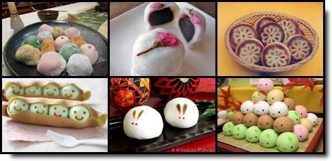 wagashi manju doces japoneses