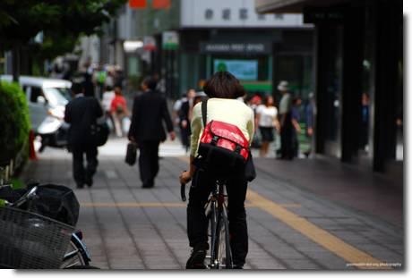 Andar de bicicleta no Japão