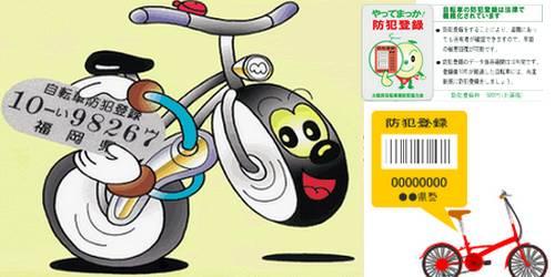 Bouhan-Toroku Registro de Segurança para bicicletas