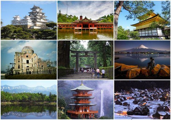 Patrimônios da Unesco Japão
