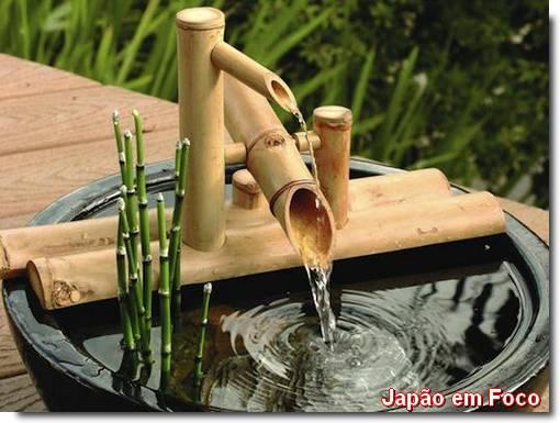 Shishi-odoshi, as fontes de bambu japonesas
