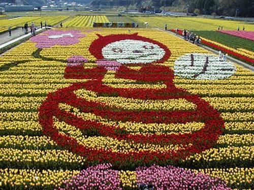 Tema do ano 2000: Yume-Hacchi (mascote de Awaji Expo Flor)