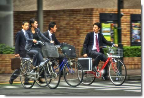 Andar de bicleta no Japão