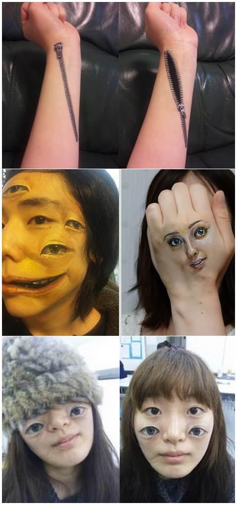 Body Art da artista japonesa Choo San Arte Corporal