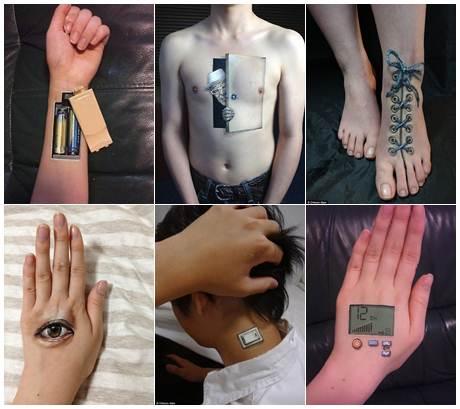 Body Art da artista japonesa Choo San Pinturas Corporais