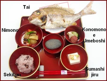 Okuizome comida