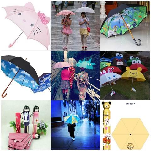 Guarda-chuva criativo no Japão