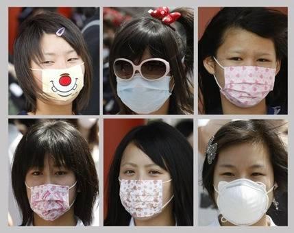 Máscaras decoradas no Japão