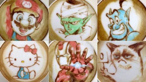 Anime Coffee Art by Sugi