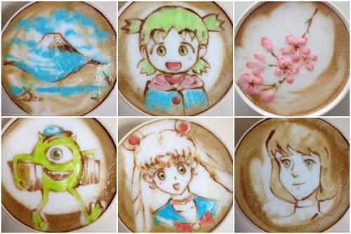 Anime Coffee Art by Sugi fotos