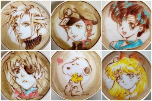 Anime Coffee Art by Sugi imagens